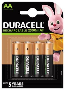 Duracell oplaadbare batterijen Recharge Ultra AA, blister van 4 stuks