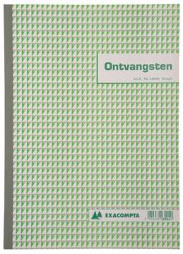 Exacompta ontvangsten, ft 29,7 x 21 cm, Nederlandstalig, dupli (50 x 2 vel)