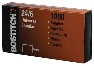 Bostitch nietjes 24-6-1MGAL, 6 mm, verzinkt, doos met 1000 nietjes