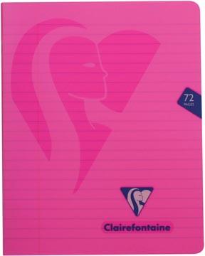 Clairefontaine schrift mimesys voor ft A5, 72 bladzijden, kaft in PP, gelijnd, geassorteerde kleuren