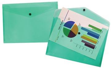Beautone documentenmap, A4, transparant groen