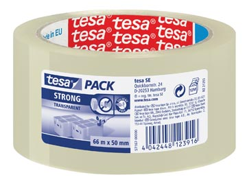 Tesa verpakkingsplakband Strong, ft 50 mm x 66 m, PP, transparant