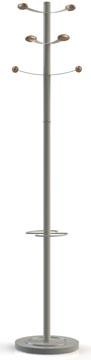 Unilux kapstok Bouquet, hoogte 175 cm, 6 kledinghaken, grijs/hout