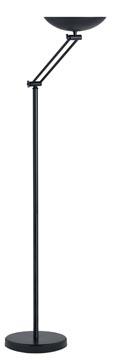 Unilux vloerlamp Dely Articuled, LED-lamp, zwart