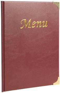 Securit menukaart Basic ft A4, bordeaux