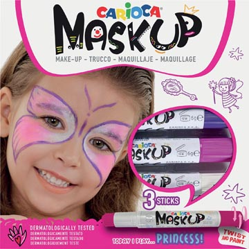 Carioca maquillagestiften Mask Up Princess, doos met 3 stiften