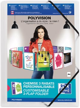 OXFORD Polyvision elastomap, formaat A4, uit PP, transparant
