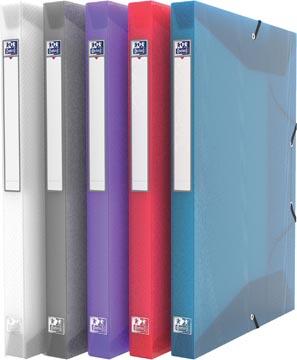 OXFORD Hawaï elastobox, formaat A4, uit PP, rug van 2,5 cm, geassorteerde transparante kleuren