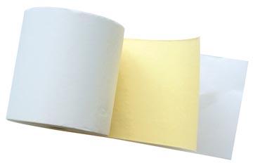 Duplorol 2 lagen ft 76 mm, diameter +-65 mm, asgat 12 mm, lengte 25 meter, kleur wit-geel