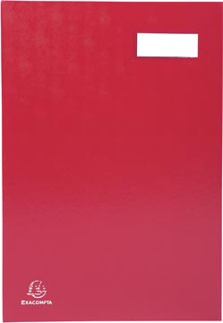 Exacompta handtekenmap voor ft 24 x 35 cm, uit karton overdekt met pvc, 20 indelingen, rood
