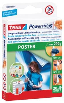 Tesa Powerstrips Poster, draagkracht 200 g, blister van 20 stuks