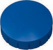 Maul magneet MAULsolid, diameter 24 x 8 mm, blauw, doos met 10 stuks