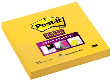 Post-it Super Sticky notes, ft 76 x 76 mm, geel, blok van 90 vel