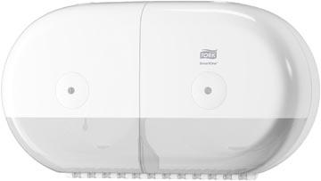 Tork SmartOne Mini Twin toiletpapier dispenser, systeem T9, wit