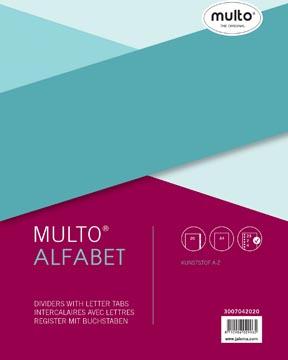 Multo tabbladen voor ft A4, uit PP, set A-Z