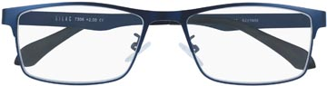 SILAC Blue Metal leesbril, mat nickelvrij blauw metaal, +1,50