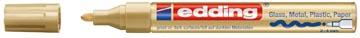 Edding glanslakmarker e-750 CR goud