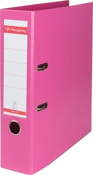 Pergamy ordner, voor ft A4, volledig uit PP, rug van 8 cm, roze