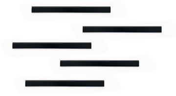 Durable Durafix zelfklevende magneetstrook, 210 mm, pak van 5 stuks, zwart
