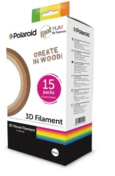 Polaroid filament Root Play,in ophandoos met 3 tinten hout