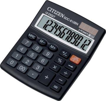 Citizen bureaurekenmachine SDC-812BN, zwart
