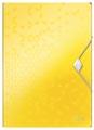 Leitz WOW elastomap met 3 kleppen, uit PP, ft A4, geel